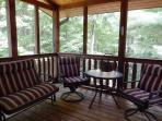 Screened in porch off Master Bedroom