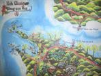 Local artist's map of Klong Son