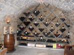 La Bastide has 2 wine cellars for guests to choose from! Locally produced and fine wines