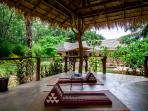 Fantastic large covered area for yoga, meditation or quiet reading.