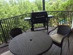 Outdoor Dining Area with Grill