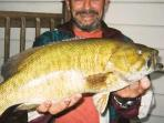 A world record Norcan Lake Small-mouth bass, had he not eaten it.