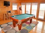 Pool Table and Stand Up Arcade Game