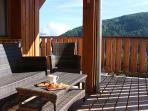 Spacious balcony with great views and sunshine