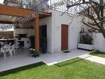 Patio outside with bbq area and cover automatic sorrento apartments holidaysup accommodation flipkey