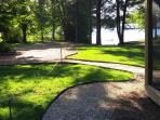 walkway to lake and turn around parking. Lots of room