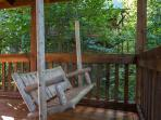 Swing's on both decks to enjoy the sounds of nature/Babbling Mountain Stream Below