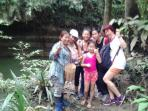 Jungle Trekking with my guests.