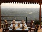 Restaurant at Sumberkima Hill with an amazing view on the Bay.