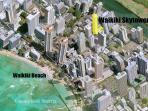 Waikiki Skytower Location