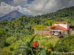 Our home looks over the National Park Jungle, and features the Arenal Volcano and Lake Arenal