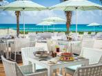 Beachside restaurant