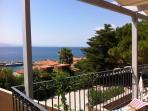 View from veranda to Molyvos bay