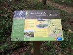 Information boards about our village and the river Lauquet