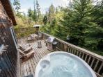 Hot tub & outside deck