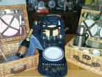 picnic rucksack and baskets