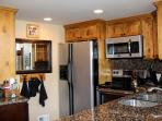 Kitchen, granite, SS appliances, coffee station