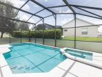 Pool & Spa with privacy screen
