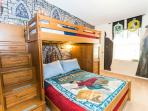 Magical Harry Potter Theme Room with Step Up Bunk Beds, Twin on Top, Full Below