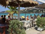 Almyrida bay - fabulous tavernas run all the way along the beach!