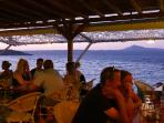 One of the fantastic beach front tavernas at Almyrida