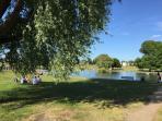 The duck pond- just round the corner!