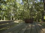 La table de pic nique dans les bois
