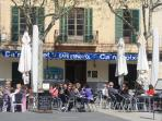 old town of Pollensa with many bars and restaurants