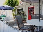 So beautiful!  Your patio by the sea!
