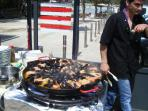 Eat out at any time of the year - paella is a regional speciality