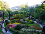 Take in the World Famous Butchart Gardens