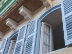 Traditional maltese shuttered windows