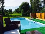 Relax by the solar heated pool