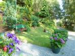 Rear garden and woodland path