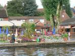The New Inn and the cottage, Horning