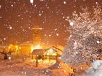 Snowy St Martin de Belleville
