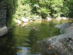 River for swimming in the summer