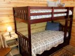 Bunkbeds in master bedroom.