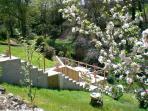 Le jardin depuis la maison