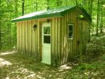 Relax in the Wood Fired Sauna and then take an OUTDOOR HOT SHOWER