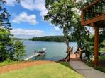 Side Yard, Upper attached deck and view of Lake Allatoona