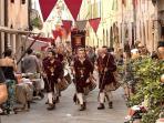 Il borgo durante la rievocazione medievale