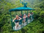 Canopy tram over the rain forrest