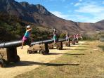 Hout Bay East Fort cannons loaded with children - cannons still fired (occasionally)