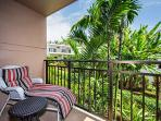 Private additional lanai outside the bedroom!