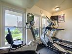 More equipment in the Fitness center with an ocean view!