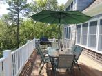 plus a table and umbrella for dinging with a gas grill as well - 151 Sky Way Chatham Cape Cod New England Vacation...