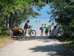 Public access to White Pond Beach just half mile from the house- bike or walk down and enjoy the cool blue waters of...