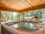 Enjoy the hot tub, while admiring the beautiful views!