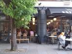 Around the corner cafe on the street